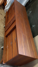 "Load image into Gallery viewer, REFINISHED MCM Walnut Brutalist Walnut Dresser Credenza 80"" PERFECT"