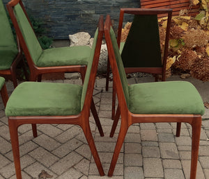 8 REFINISHED MCM walnut sculptural chairs PERFECT, ready for new upholstery, each chair $249 - Mid Century Modern Toronto