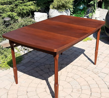 "Load image into Gallery viewer, REFINISHED MCM Walnut Dining Table w 1 Leaf 54"" -72"""