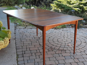 REFINISHED MCM Walnut Dining Table Extendable w 2 leaves by Deilcraft, perfect, 4-6 ft