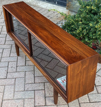 "Load image into Gallery viewer, REFINISHED MCM Walnut Bookcase Display Media Console 56.5"", Perfect"