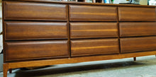 Load image into Gallery viewer, REFINISHED MCM Walnut Dresser 3-Dimensional Front 6ft by HPL Mobilier, PERFECT - Mid Century Modern Toronto