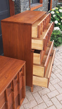 Load image into Gallery viewer, REFINISHED MCM Walnut Set of Dresser 9 drawers and Tallboy, PERFECT