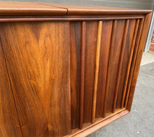 Load image into Gallery viewer, REFINISHED MCM Walnut Stereo Media Record Player Console , PERFECT