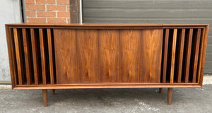 REFINISHED MCM Walnut Stereo Media Record Player Console , PERFECT