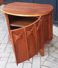 Load image into Gallery viewer, REFINISHED MCM Walnut Cabinet & Mirror, PERFECT