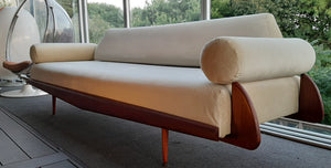 REFINISHED MCM Walnut Sofa / Daybed by Adrian Pearsall 100""