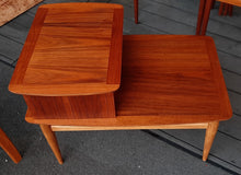 Load image into Gallery viewer, REFINISHED MCM Walnut Two Tier End Table with Drawer by Lane Altavista, PERFECT