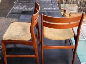 4 Danish MCM Teak Chairs by Boltinge RESTORED REUPHOLSTERED, each $245 - Mid Century Modern Toronto