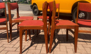 On HOLD 9 Danish MCM Teak Chairs by Anderstrup RESTORED will be REUPHOLSTERED for you, each $229 - Mid Century Modern Toronto