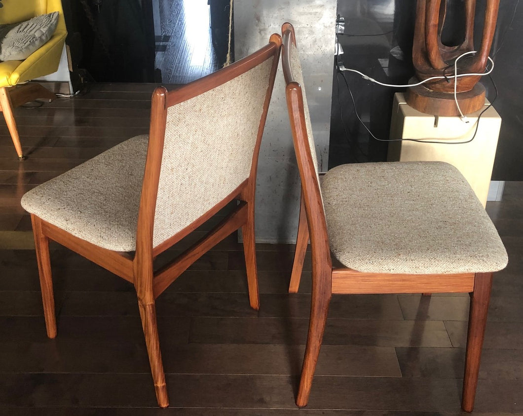 6 Danish MCM Solid Rosewood Chairs RESTORED, Like New, Each $249   Mid  Century