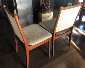 "Set REFINISHED Danish MCM Rosewood Table Oval w 2 Leaves 70-109"" & 6 Chairs, all perfect - Mid Century Modern Toronto"