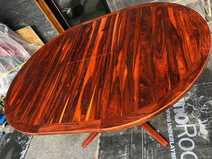 "REFINISHED MCM Rosewood Table Round to Oval by Troeds 48""-61"" PERFECT, treated for durability - Mid Century Modern Toronto"