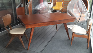 "REFINISHED Rare Russell Spanner Dining Table Extendable 60""-78""- PERFECT (matching 6 chairs available) - Mid Century Modern Toronto"