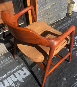 A pair REFINISHED MCM Walnut Sculptural Armchairs by WH Gunlocke, GORGEOUS, each chair $899 - Mid Century Modern Toronto