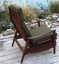 Load image into Gallery viewer, REFINISHED REUPHOLSTERED Solid Teak MCM High Back Lounge Chair Reclining, perfect - Mid Century Modern Toronto
