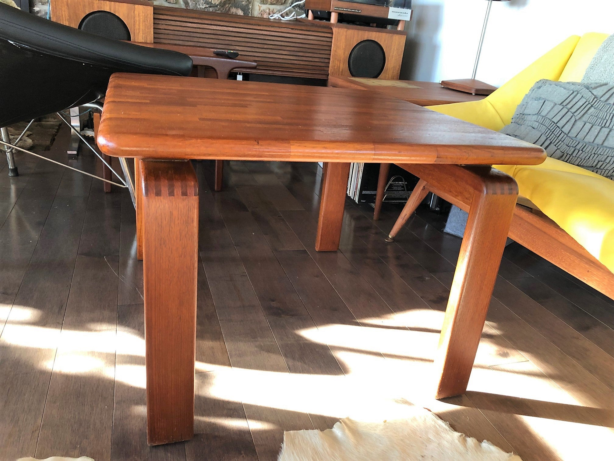 Refinished Danish Mcm Solid Teak Coffee Table Square 27 Perfect