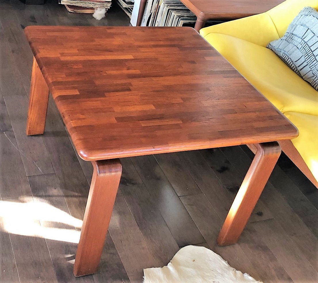 REFINISHED Danish MCM SOLID Teak Coffee Table square 27 ...