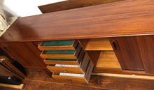"Load image into Gallery viewer, NOT AVAILABLE*****REFINISHED MCM Teak Credenza w 4 sliding doors 86"" - Mid Century Modern Toronto"