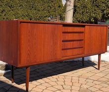 Load image into Gallery viewer, REFINISHED Danish MCM Teak Sideboard TV Console 6 ft narrow, almost perfect - Mid Century Modern Toronto