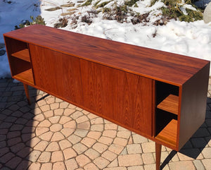 REFINISHED Danish MCM Teak Sideboard TV Console 6 ft narrow, almost perfect - Mid Century Modern Toronto