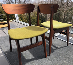 4 MCM Teak Chairs by Punch Design RESTORED, PERFECT, includes custom UPHOLSTERY, each $299 - Mid Century Modern Toronto