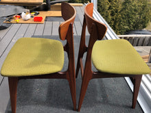 Load image into Gallery viewer, 4 MCM Teak Chairs by Punch Design RESTORED, PERFECT, includes custom UPHOLSTERY, each $299 - Mid Century Modern Toronto