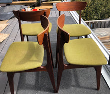 Load image into Gallery viewer, 4 MCM Teak Chairs by Punch Design RESTORED, PERFECT, includes custom UPHOLSTERY, each $275 - Mid Century Modern Toronto