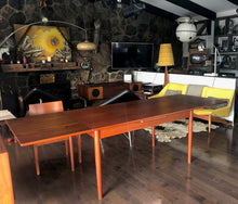 "Load image into Gallery viewer, REFINISHED Danish MCM Teak Draw Leaf Table, PERFECT, specially treated for durability, 57""-101"" - Mid Century Modern Toronto"