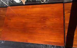 "REFINISHED Danish MCM Teak Draw Leaf Table, PERFECT, specially treated for durability, 57""-101"" - Mid Century Modern Toronto"
