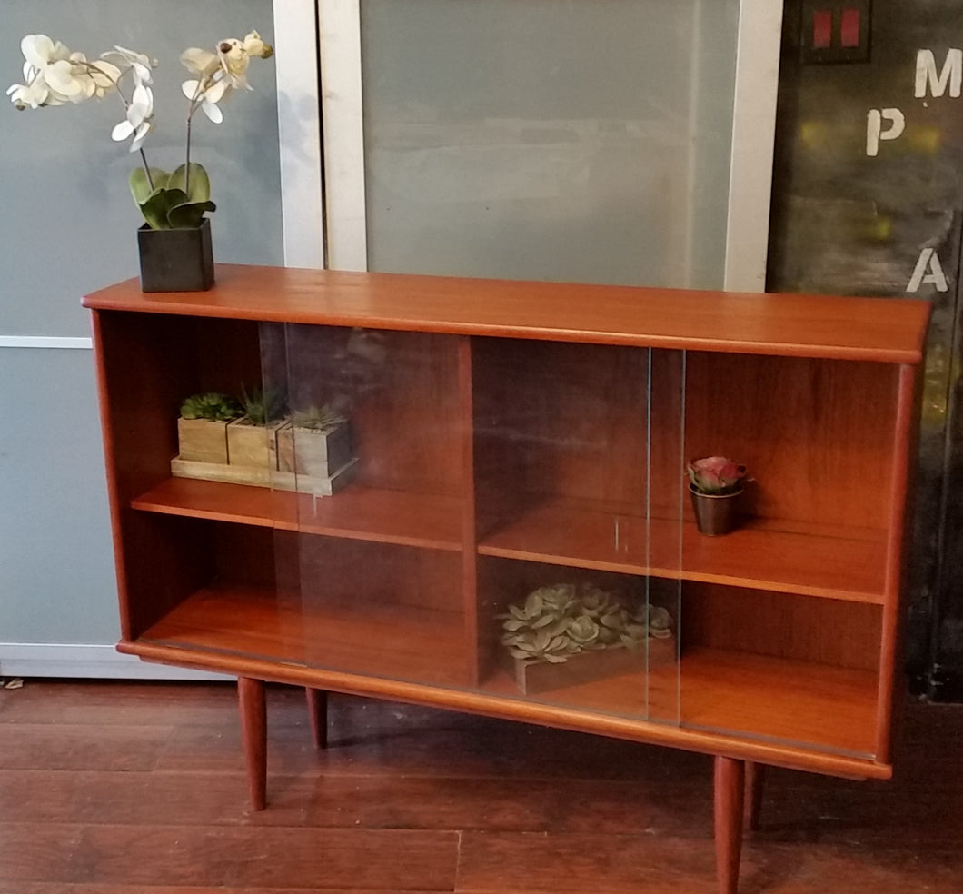 REFINISHED MCM Teak Bookcase Display 48.75