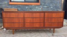 Load image into Gallery viewer, REFINISHED MCM Teak 9 Drawers Dresser, Tallboy, Headboard with nightstands and metal bed frame Queen- PERFECT - Mid Century Modern Toronto