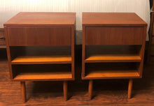 Load image into Gallery viewer, REFINISHED MCM Teak night stands or end tables, compact , PERFECT - Mid Century Modern Toronto