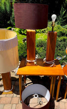 Load image into Gallery viewer, A pair of large Mid Century Modern Teak sculptural lamps (1 pair available) - Mid Century Modern Toronto