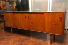 Load image into Gallery viewer, REFINISHED MCM Teak Sideboard Credenza w 4 sliding doors 6 ft - Mid Century Modern Toronto