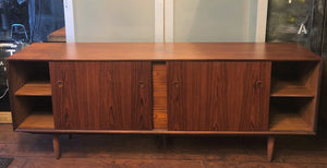 "REFINISHED MCM  Teak Sideboard by Punch Designs, PERFECT, 78"" - Mid Century Modern Toronto"
