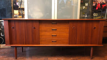 Load image into Gallery viewer, REFINISHED Danish MCM Teak Sideboard TV Media Console 6ft PERFECT - Mid Century Modern Toronto