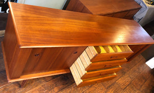 REFINISHED Danish MCM Teak Sideboard TV Media Console 6ft PERFECT - Mid Century Modern Toronto