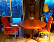 Load image into Gallery viewer, REFINISHED MCM  Teak Table Round w 2 Leaves & 6 Chairs by Vamdrup- like NEW - Mid Century Modern Toronto