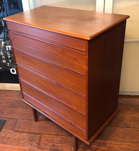 Load image into Gallery viewer, REFINISHED MCM Teak 9 Drawers Dresser, Tallboy & Queen bed metal frame & Headboard - Mid Century Modern Toronto