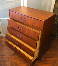 "Load image into Gallery viewer, REFINISHED MCM Teak Tallboy by Punch Designs 34.25"" - Mid Century Modern Toronto"