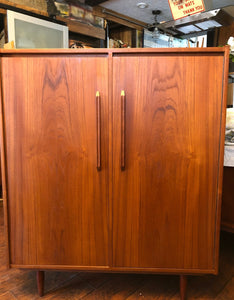 REFINISHED MCM  Teak Compact Wardrobe or Tall Dresser, PERFECT - Mid Century Modern Toronto