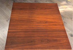 "REFINISHED MCM Walnut & Ash Accent or Coffee Table large, square 30"", perfect - Mid Century Modern Toronto"