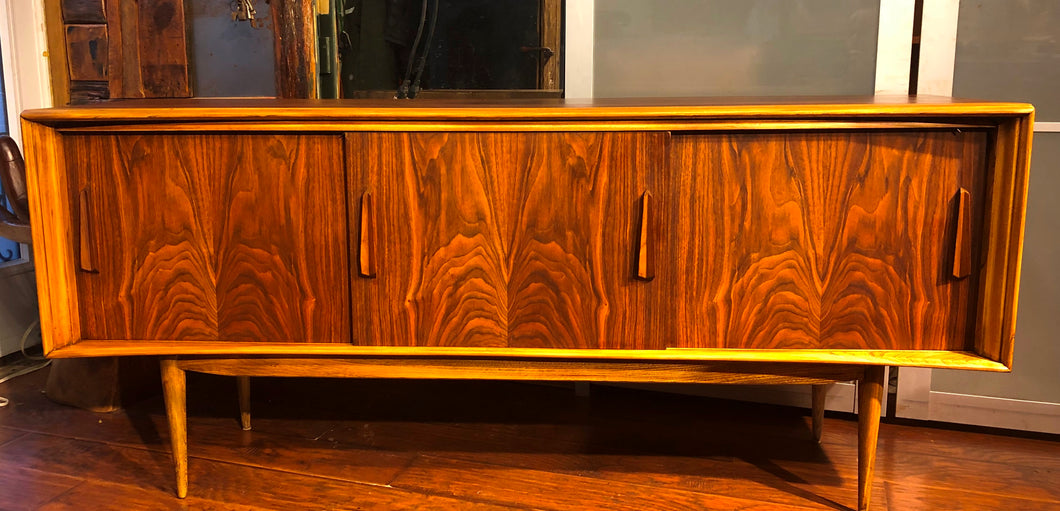 REFINISHED Walnut MCM Credenza by Deilcraft 68