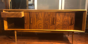 "REFINISHED Walnut MCM Credenza by Deilcraft 68"" PERFECT - Mid Century Modern Toronto"