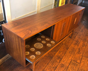 "RESERVED for M. ****REFINISHED MCM Walnut Sideboard TV Console 70""almost perfect - Mid Century Modern Toronto"