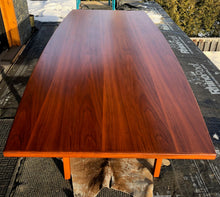 Load image into Gallery viewer, REFINISHED MCM Walnut dining or boardroom table boat shaped by Jens Risom 8ft, PERFECT, treated for durability - Mid Century Modern Toronto