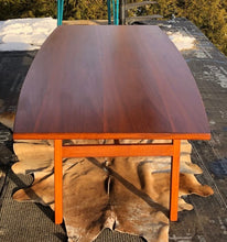 Load image into Gallery viewer, ON HOLD ****REFINISHED MCM Walnut dining or boardroom table boat shaped by Jens Risom 8ft, PERFECT, treated for durability - Mid Century Modern Toronto
