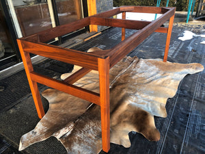REFINISHED MCM Walnut dining or boardroom table boat shaped by Jens Risom 8ft, PERFECT, treated for durability - Mid Century Modern Toronto