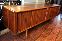 Load image into Gallery viewer, NOT AVAILABLE *****REFINISHED MCM Walnut TV Records Console Bar w Tambour door, Low Profile 6 ft - Mid Century Modern Toronto